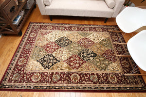 1019 Red - Bargain Area Rugs  - 2