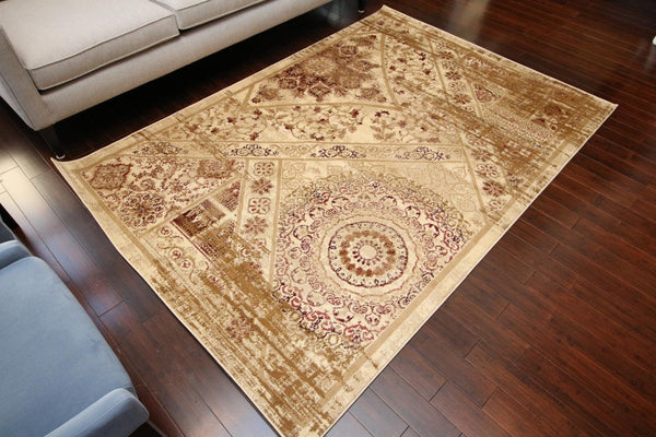 6023 Beige - Bargain Area Rugs  - 1