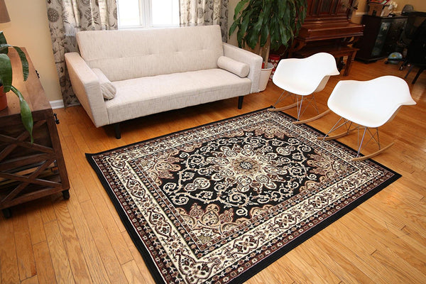 0532 Black Oriental Area Rugs