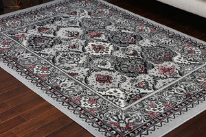 5054 Gray Oriental Area Rugs
