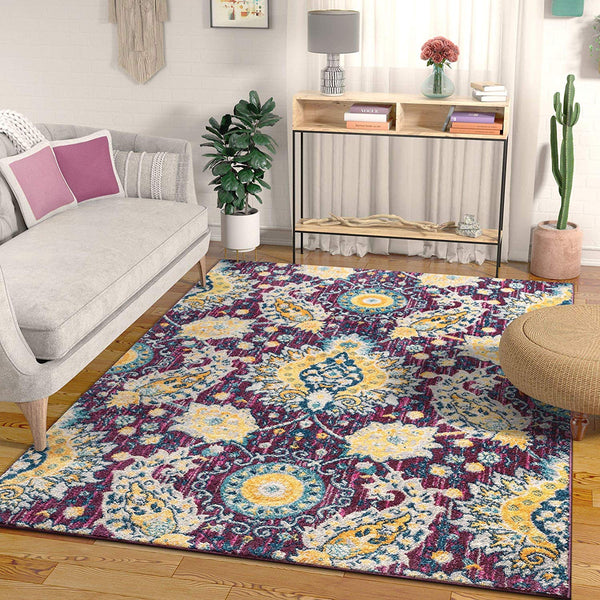 2946 Purple Vintage Oriental Area Rugs