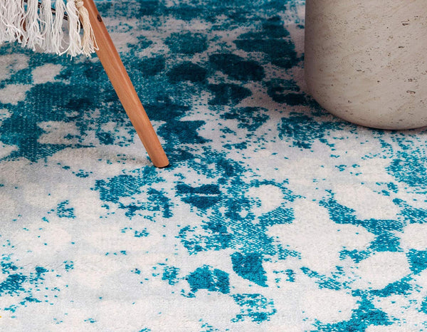 5100 Turquoise Distressed Oriental Area Rugs