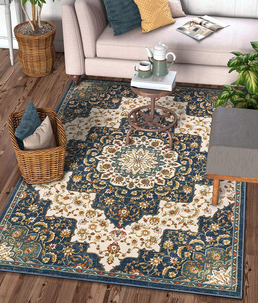 2936 Blue Persian Medallion Area Rugs
