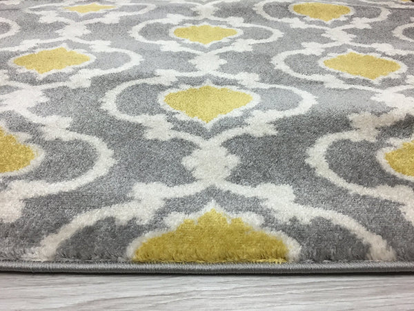 3011 Yellow Moroccan Trellis Area Rugs