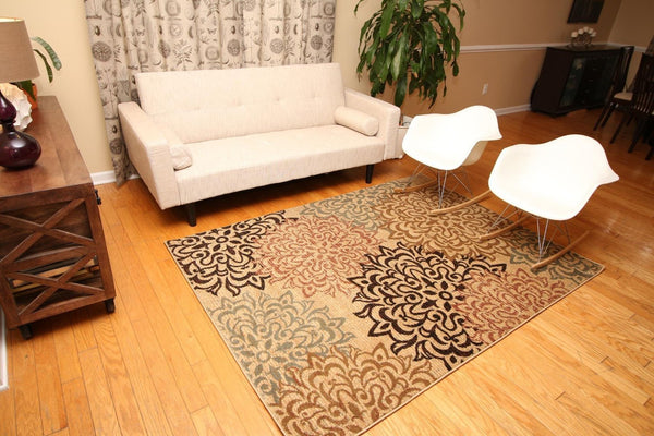 2044 Beige - Bargain Area Rugs  - 4