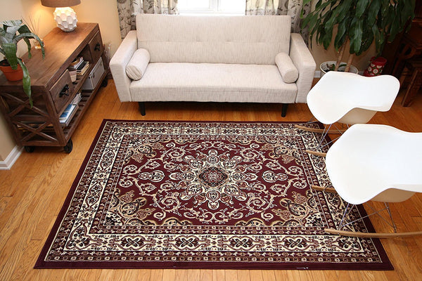 0532 Red Oriental Area Rugs