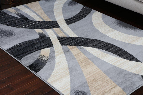 2030 Gray Modern Contemporary Area Rugs