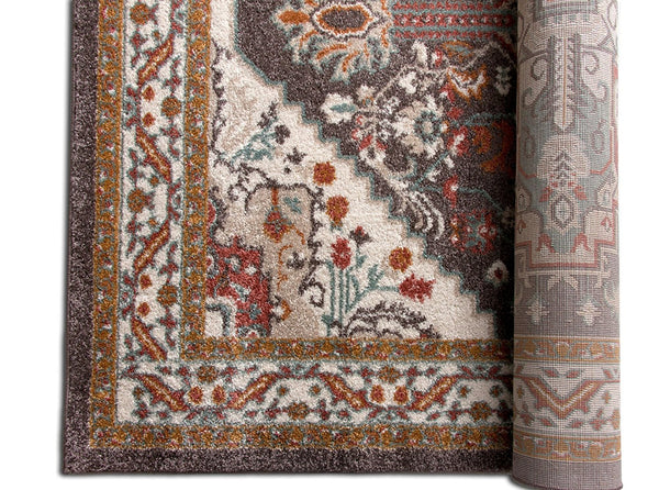 2929 Brown Vintage Medallion Persian Area Rugs