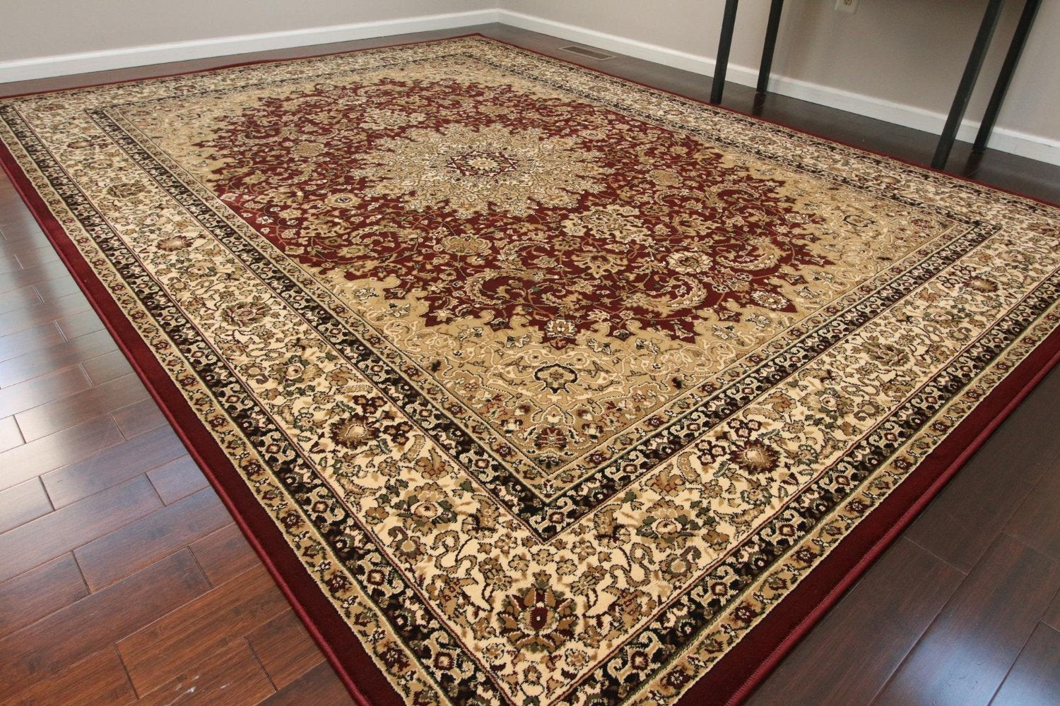 Red Isfahan Premium Quality Oriental Area Rugs 5x8 8x11