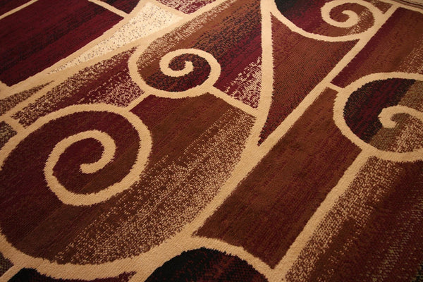 Beige Swirls Contemporary Affordable Area Rugs