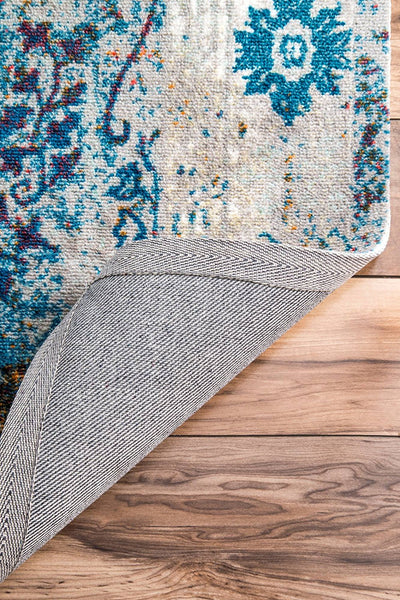 20033 Gray Blue Persian Distressed Oriental Area Rugs