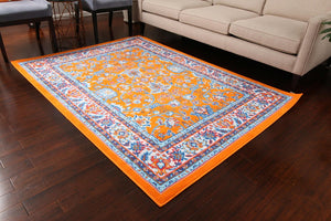 0843 Orange Colorful Oriental Area Rugs