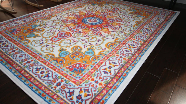 4023 White - Bargain Area Rugs  - 2