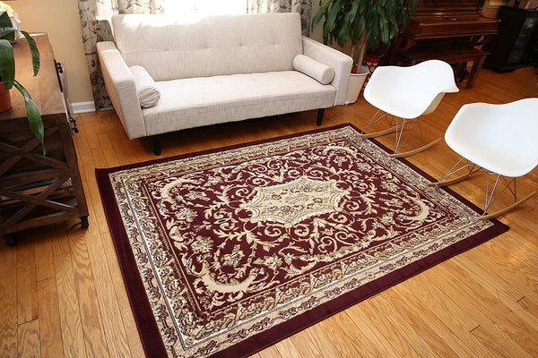 5042 Red Oriental Area Rugs