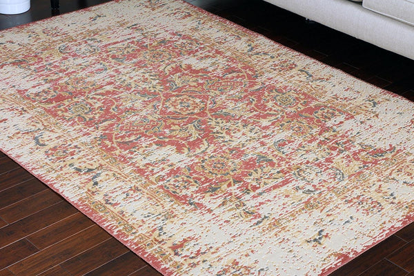 8706 Red Rustic Oriental Area Rugs