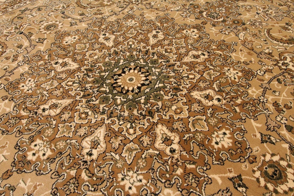 Beige Persian Gold Isfahan Oriental Area Rugs