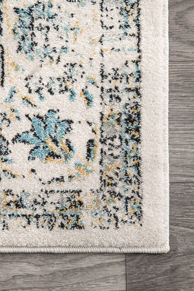 20020 Ivory Gray Distressed Persian Oriental Area Rugs