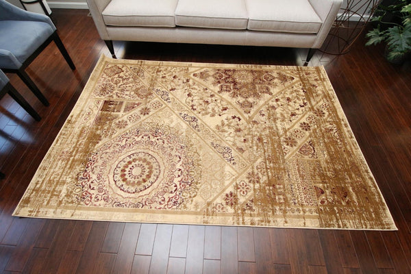 6023 Beige - Bargain Area Rugs  - 2