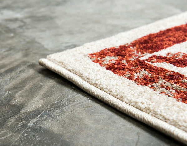 5114 Red Distressed Oriental Area Rugs