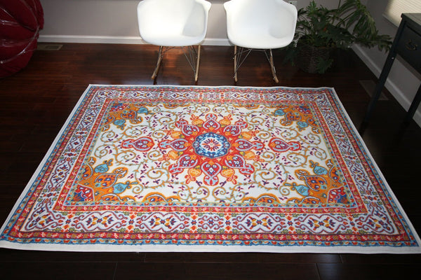 4023 White - Bargain Area Rugs  - 3