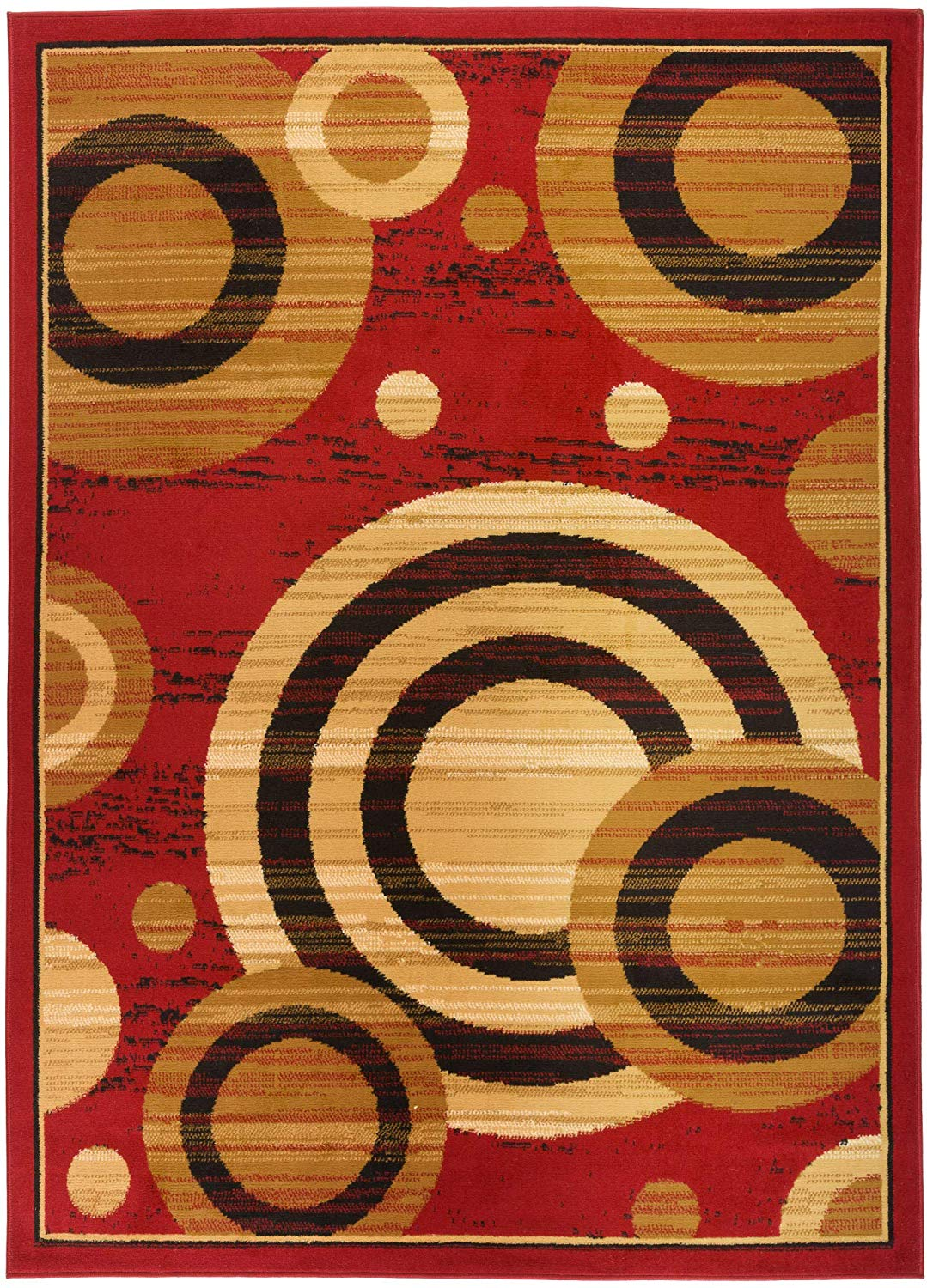 5097 Burgundy Geometric Contemporary Area Rugs Cheap Area Rugs