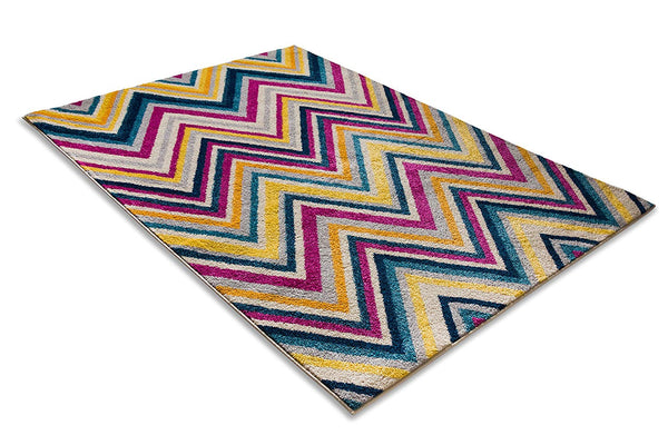 7051 Multi Color Chevron Contemporary Area Rugs
