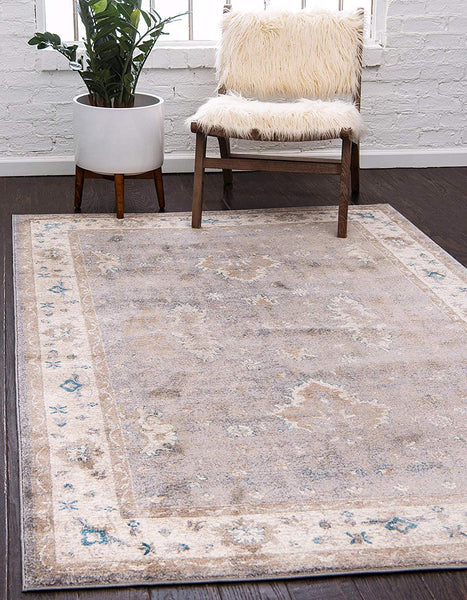 5120 Gray Distressed Vintage Area Rugs