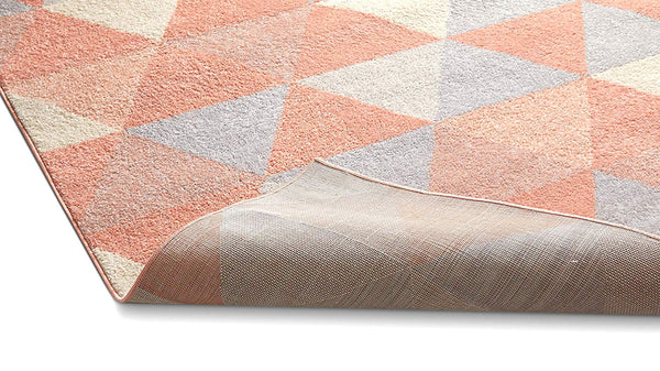 2901 Blush Pink Geometric Design Contemporary Area Rugs
