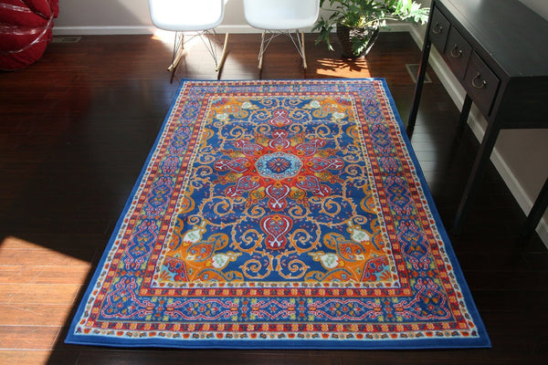 4023 Dark Blue - Bargain Area Rugs  - 1
