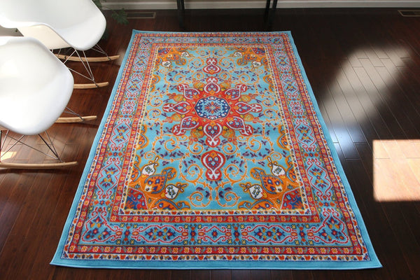 4023 Light Blue - Bargain Area Rugs  - 1