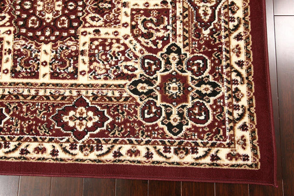 0551 Burgundy Oriental Area Rugs