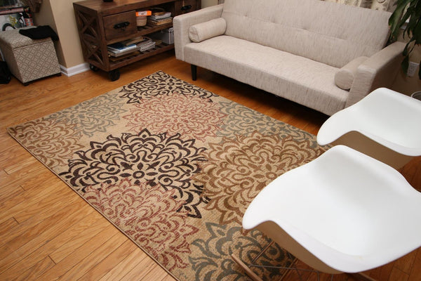 2044 Beige - Bargain Area Rugs  - 3