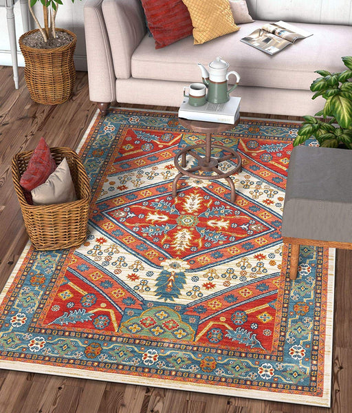 2942 Red Persian Medallion Traditional Area Rugs
