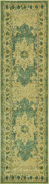 5152 Green Distressed Oriental Area Rugs