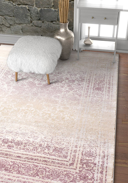 2916 Purple Distressed Vintage Plush Persian Area Rugs