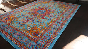 4023 Light Blue - Bargain Area Rugs  - 3