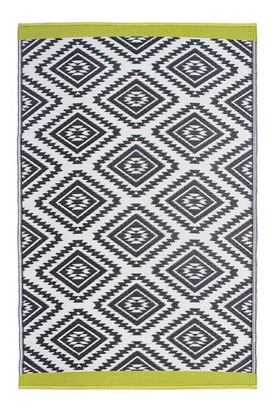 7117 Gray & Lime Green Reversible Outdoor/Indoor Area Rugs