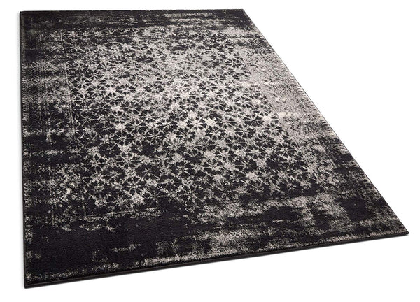 6116 Charcoal Gray Moroccan Vintage Distressed Area Rugs