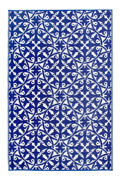 7103 Blue 100% Recycled Outdoor Area Rugs