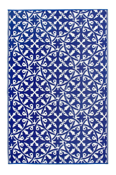 7116 Dark Blue Reversible Outdoor/Indoor Area Rugs