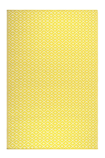 7122 Yellow Reversible Outdoor/Indoor Area Rugs