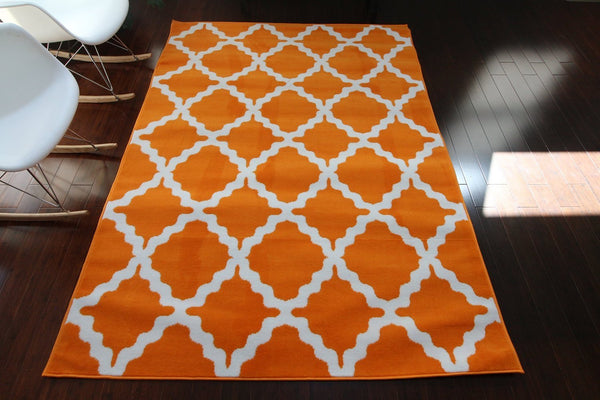 8041 Orange - Bargain Area Rugs  - 1