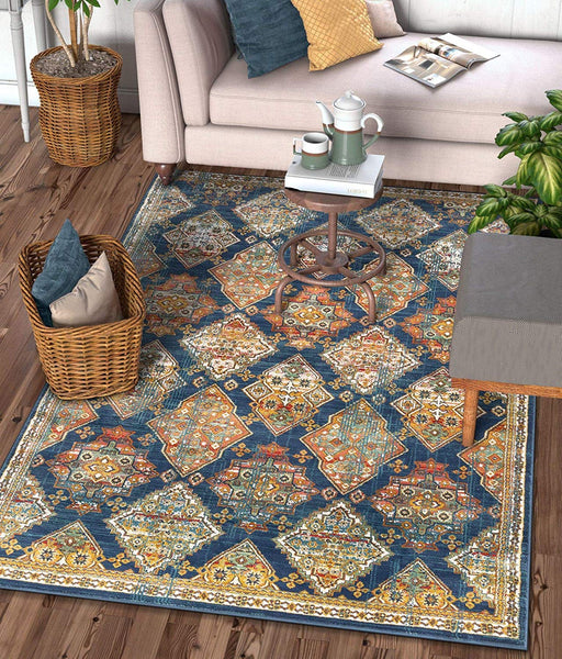 2943 Blue Panel Oriental Area Rugs