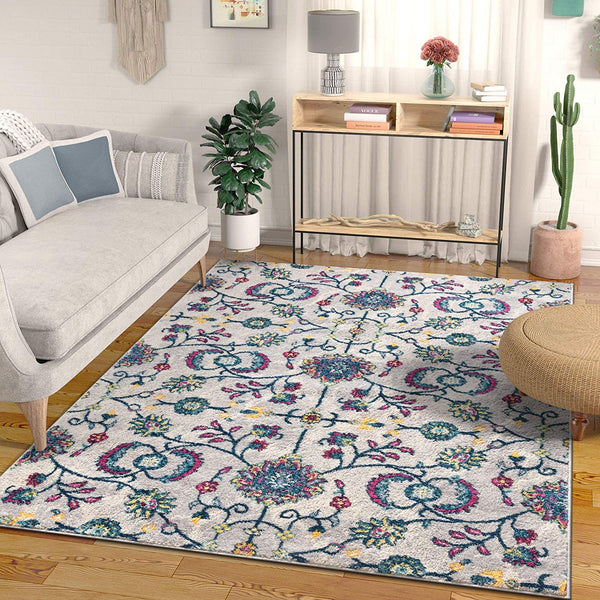 2947 Gray Blue Boho Persian Oriental Area Rugs