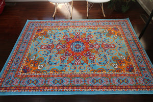 4023 Light Blue - Bargain Area Rugs  - 4
