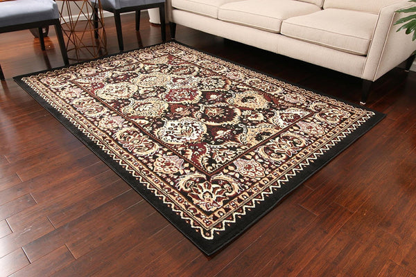 0554 Black Oriental Area Rugs