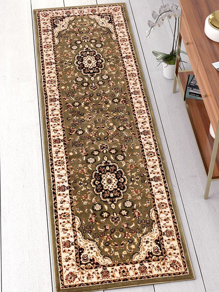 2917 Green Medallion Persian Area Rugs