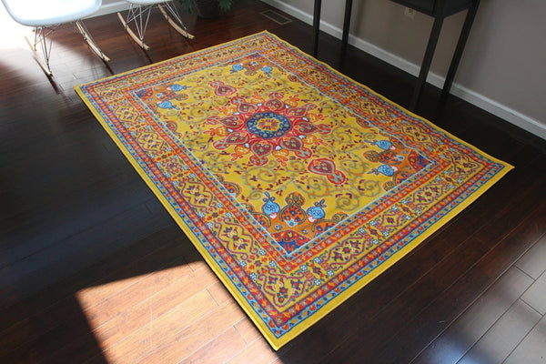 4023 Yellow - Bargain Area Rugs  - 2