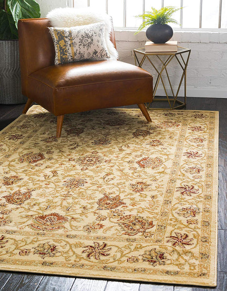 5109 Ivory Oriental Persian Area Rugs
