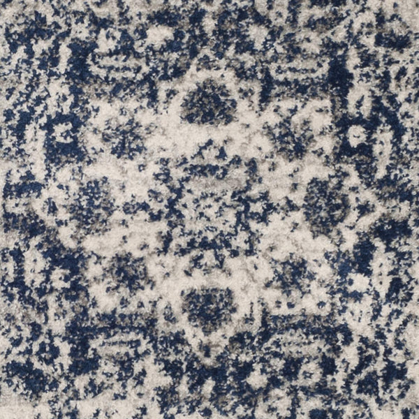 9364 Navy Blue Distressed Oriental Area Rugs